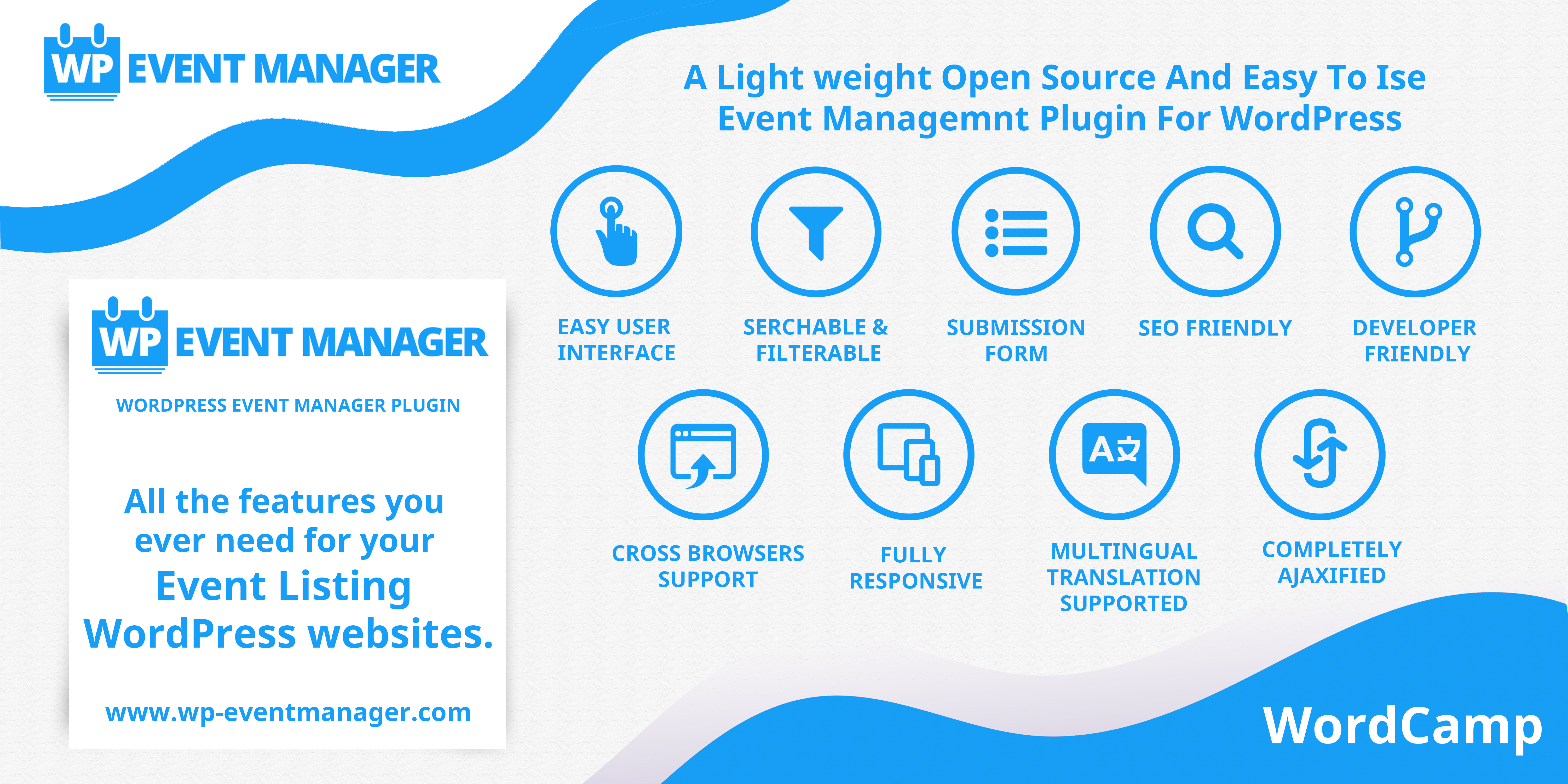 Thank You WP Event Manager For Being Our Platinum Sponsor WordCamp Biratnagar 2018 With Your Warm Support We Will Make First Ever Grand